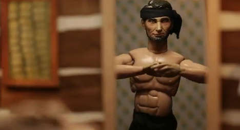 Mini Presidential Training Montages - Mini Abe Lincoln Gets Buff and Ripped for His Big Oscar Night