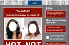 Face-Focused Website Infographics - This Chart Outlines the Many Details of Facebook History
