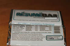 Resume-Wrapped Candy Bars