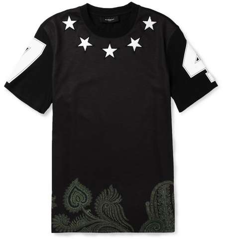 Paisley Star-Spangled Tees - The Starry Givenchy T-Shirts Shine Bright