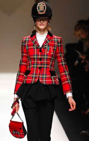 Royal Tartan Runways - The Moschino Fall 2013 Collection is an Ode to British Guards