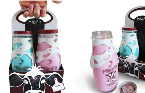 Creative Dairy Branding - Milkin' It Packaging is as Stimulating Visually as its Contents Taste