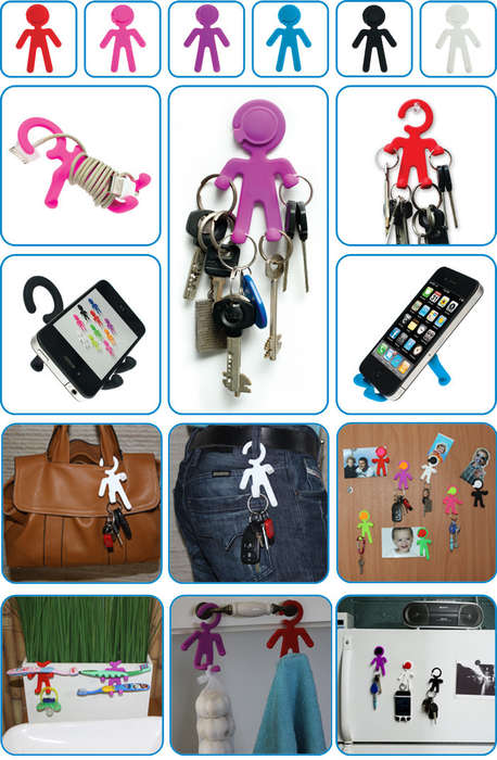 Vibrant Flexible Key Holders - The MIni Bondi Key Holder is Bendy and Useful