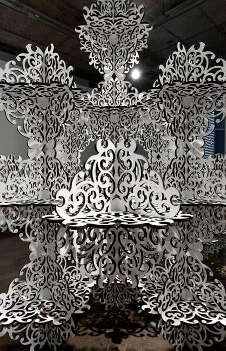 Ornate Geometric Installations - Artist Simeon Nelson Plays with Conflicting Art Forms