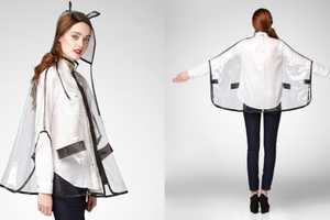 Look Fashionably Dry with the Peek-a-Boo Rain Poncho