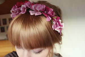 These Flower-Accented Headpieces are Simple and Easy to Make