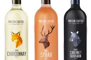 Maison Chatou Wine Packaging Features Two-Dimensional Folded Forms