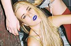 Federico Ferrari Features Fashion Vixens with Bold Blue Lips