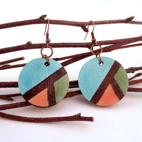 hand-painted earrings