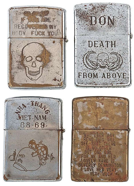 Recovered Combatant Lighters - Bradford Edwards Collected Hundreds of Zippos From the Vietnam War