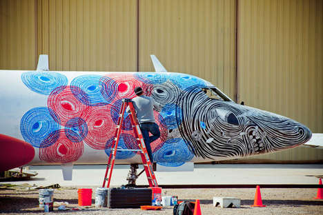 Decommissioned Aircraft Artwork - Carlo McCormick Curates Work Done For the Boneyard Project