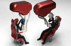 Spaciously Reclining Airplane Seats