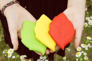 The Silicone Leaf Pocket Pouch is a Portable Beverage Container