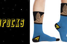 Intergalactic Character Hosiery - These Spock Inspired Star Trek Socks are out of this World