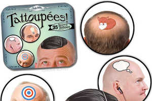 Archie McPhee's Tattoupées are a Product for Adventurous Bald M