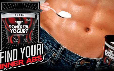 Masculine Brogurt Treats - Powerful Yogurt Targets Manly Men Who Want to Find Their Inner Abs