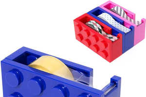 The LEGO Tape Dispenser is a Playful Way to Organize Your Supplies