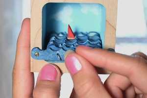 'Be Brave Make Waves' Creates Calming Kinetic Art Ship Scenery