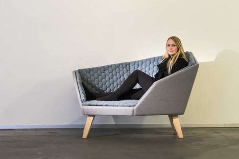 Abstract Embracing Love Seats - The Frigg Sofa Encourages Cuddling Within its Encompassing Walls