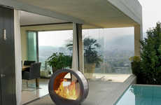 40 Fantastically Futuristic Fireplaces