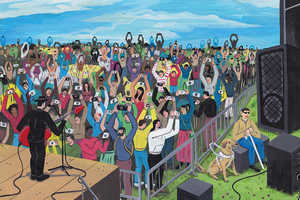 Brecht Vandenbroucke Illustrates His Commentaries with Bizarre Art