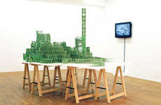 French Artist Jeremy Laffon Creates Mini Roller Coasters from Gum