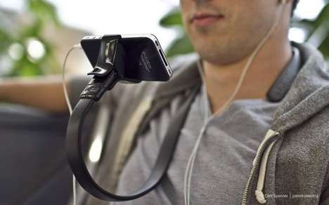 Shoulder-Mounted Smartphone Clips - This Mount Means You'll Never Not Be Looking at Your iPhone