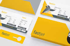 Illustrated Airplane Tickets - FastJet Airline Branding Animates the Tedious Airport Experience