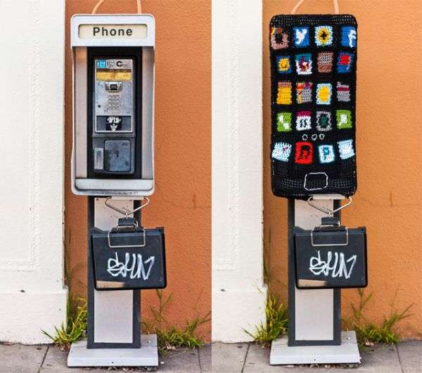 Knitted Public Telephones