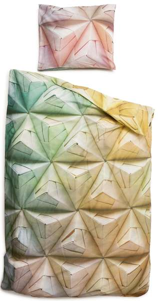 Origami-Inspired Linens - The Geogami Bed Sheet Set by Snurk Gives the Illusion of 3D Texture