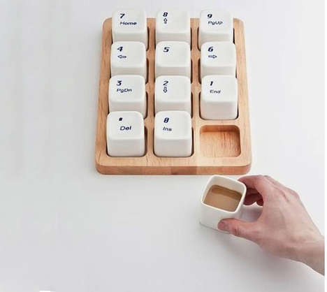 24 Kooky Keyboard-Inspired Products - From Keyboard Coffee Cups to Geeky Keyboard Clocks