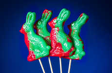 Undead Rabbit Suckers - The Zombie Bunny Lollipops are a Gruesomely Fun Easter Candy