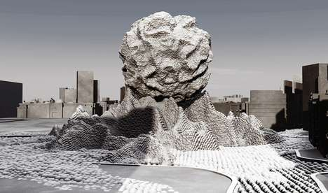 Meteorite Social Monuments - Phantom Limbs Symbolizes the Revolutionary Power of the People of Egypt