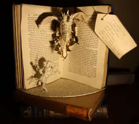 Novel Paper Sculptures - From Within a Book by Emma Taylor Pays Tribute to the Printed Word