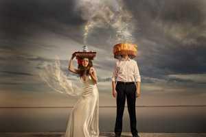 Sergey Ivanov Turns Couples into Art with Creative Wedding Photos