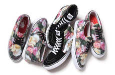 Floral Skater Shoes - The Supreme x Vans SS13 Collection is Inspired by a New Order Album Artwork