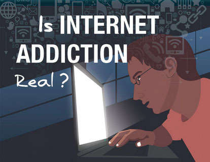 Internet Addiction Infographics - This Infographic Poses Tough Questions About Extreme Internet Use