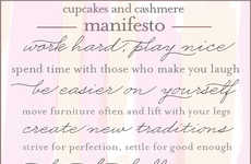 Inspirational Social Media Manifestos - The Cupcakes and Cashmere Words to Live By Post is Moving