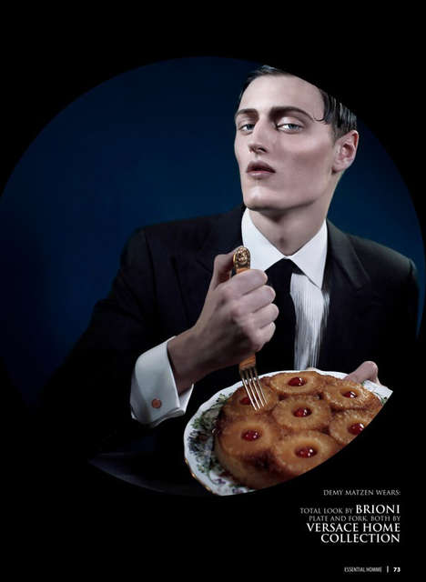 Indulgent Gentleman Editorials - The Saveurs des Hommes Essential Homme Image Series is Glutinous
