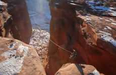 Extreme Canyon Rope Swings
