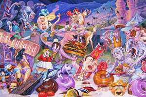 This Pop Culture Mash-Up Art by Dave Macdowell is Grotesque