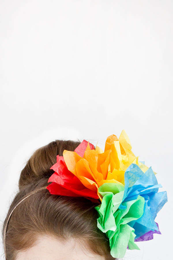 Pretty Paper Rainbow Headpieces