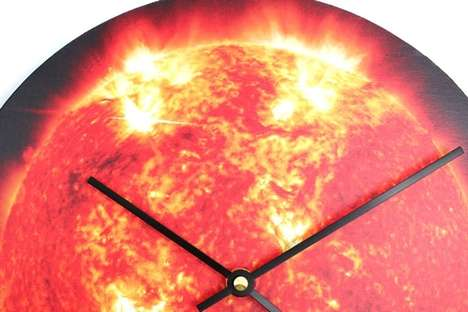 Vividly Burning Wall Clocks