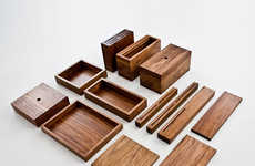 Minimalist Wooden Kitchenware - The OnOurTable 2013 Box Series is Both Chic and Homey