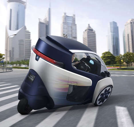 Compact Enclosed Motorcycles - The Toyota i-Road Electric Personal Mobility Vehicle is Eco-Friendly