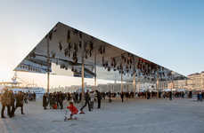Mirrored Canopy Structures - The Port Vieux Pavilion is Reminiscent of Chicago's Cloud Gate