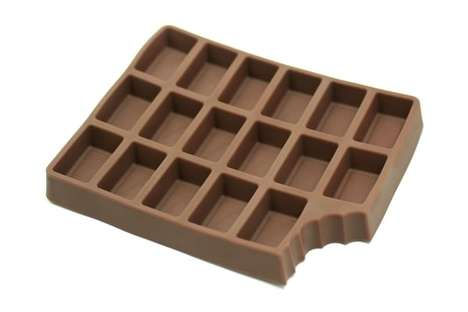 Chocolate-Shaped Ice Cubes