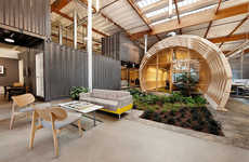 Indoor Garden Workspaces - The Cuningham Group Hayden Place Office is Focused on Sustainability