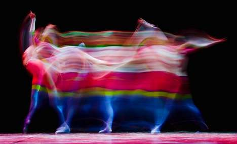 Anamorphic Ballerina Pictorials - Leon Neal Creates Painting-Like Images Through Long Exposure