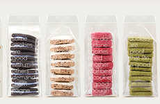 Fruute Cookies are Wrapped Up in Thin Pieces of Transparent Plastic